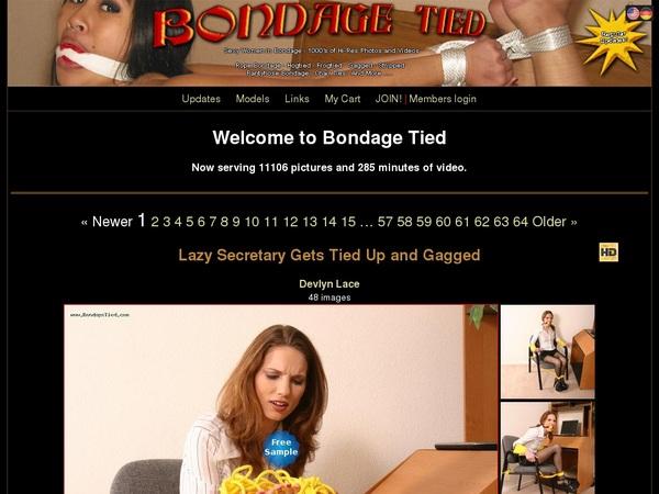 Bondage Tied Using Discount