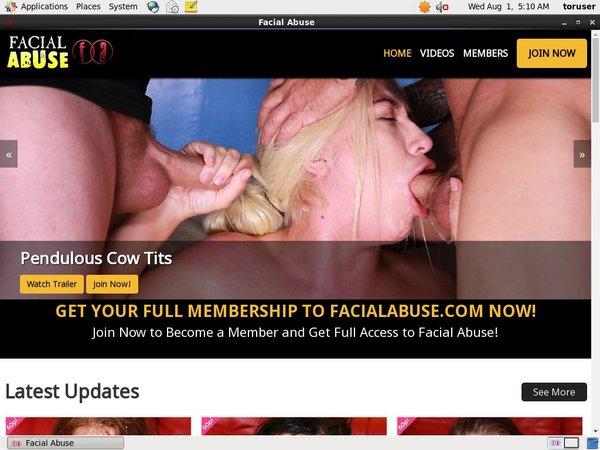 Facialabuse Discount Signup