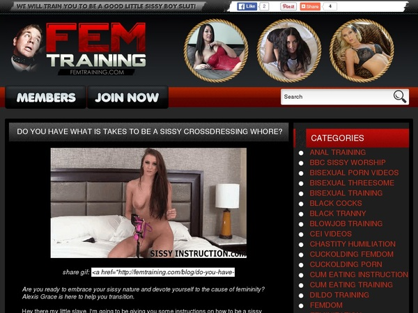 Femtraining.com Member Password